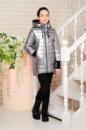 Демисезоная куртка для девочки серебро