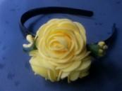 Обруч розы с фоамирана