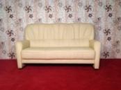 Кожаный мягкий трехместный диван. Производство Германии