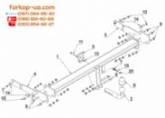 Тягово-сцепное устройство (фаркоп) Seat Alhambra (2012-...)