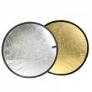 Фото отражатель круглый серебро золото 2 в 1 80см