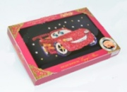 «Супер-авто» картина-мозаика из пайеток c декорированной рамкой
