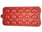 Силиконовая форма 7157 для 12 конфет или льда «Сердечки» 20х12х2см