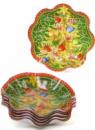 Набор 6 новогодних стеклянных тарелок «Елка» Ø19х3.7см