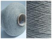 Пряжа WORAZ, серый меланж (1/13500, 1350м/100г ). Точный состав неизвестен, похож на хлопок с вискозой.
