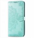 Кожаный чехол (книжка) Art Case с визитницей для Xiaomi Redmi Go Бирюзовый