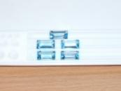 Топаз голубой, натуральный багет 10,0х5,0 мм,