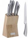 Набор ножей Kamille Steel 5 кухонных ножей на деревянной подставке