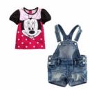 Детские джинсовые шорты и футболка на девочку «Минни Маус»