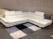 Большой кожаный угловой диван (не раскладной)