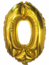 Шар цифра фольгированная 0 золото 100 см