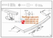 Тягово-сцепное устройство (фаркоп) Skoda Roomster (2006-2015)