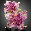 Кольцо двойной цветок