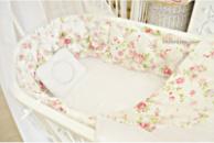 Постельный набор каретная стяжка «Весенний букет» сатин делюкс