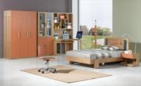 Набор мебели в детскую Баскетбол (кровать + тумбочка + компьютерный стол + стул + книжный шкаф + гардеробный шкаф)