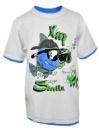 Футболка детская хлопковая «Рыбки», белая с рисунком, бренд «Topolino» (Германия)