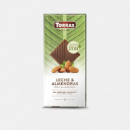Шоколад TORRAS молочный с миндалём Stevia, 125 г