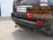 Фаркоп для Toyota Land Cruiser Prado 120 (балка внизу бампера) (2003-2009)