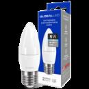 LED лампа GLOBAL C37 CL-F 5W яркий свет 220V E27 AP (1-GBL-132)