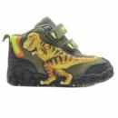 Ботинки хаки с желтым T-Rex