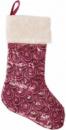 Носок для подарков «Розовый» 53см, с пайетками