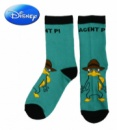 Носки детские бирюзовые с рисунком «Phineas and Ferb» (Финес и Ферб), бренд «Disney»