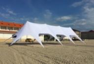Шатер Звезда-4. 10х23 Белый. Шатер для отдыха, Большой шатер.