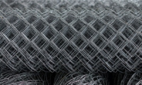 Сетка-рабица оцинкованная, ячейка 60х60