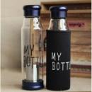 Стеклянная бутылка My Bottle 550 мл с ситечком для заварки Темно-синий