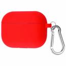 Силиконовый футляр с карабином для наушников AirPods Pro Красный / Red