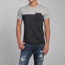 Двухцветная футболка с карманам