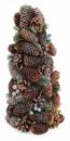 Декоративная елка «Шишки и ягоды» 38см с натуральными шишками