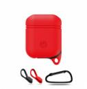 Чехол с карабином для наушников Grand для Apple AirPods silicone Red (AL1527)