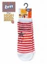 Носки детские белые в красную полоску Дисней, бренд «B&M for Disney» (Англия)