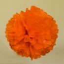 Помпон 30 см оранжевый