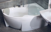 Акриловая ванна Bisante Роза (Правая) 1400х1050х580 мм
