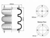 Пневморессора, бублик тройной в сборе (пр-во Airtech) D 255,10'X3 SP1539 /AT,115055,15809