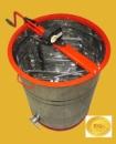 Медогонка Euro2 с поворотом кассет 2-х рамочная нержавеющая КН с обручем