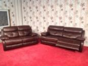 Комплект кожаной мягкой мебели релакс производства Германии