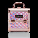Кейс для косметики INGLOT Diamond міні HOLOGRAPHIC рожево-золотий