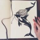 Рисунок Косатка и русалка