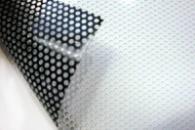 Широкоформатная печать на перфорированной плёнке. Пленка перфорированная