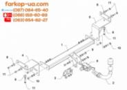 Тягово-сцепное устройство (фаркоп) Kia Ceed SW (universal) (2007-2012)