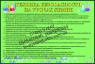 Стенд «Техника безопасности на уроках химии», Донецк