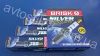 Свеча зажигания 2110, 2111, 2112, 1117, 1118, 1119 16 клапанный Brisk Silver под газ оборуд ГБОование (комплект)