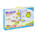Музыкальная карусель мобиль Лягушка Kronos Toys 6518D Разноцветный (tsi_54754)