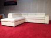 Большой раскладной кожаный угловой диван в стиле хай-тек