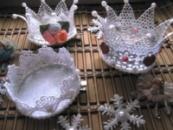 короны серебристые праздничные