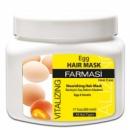 Восстанавливающая крем-маска для волос с экстрактом яичного желтка Farmasi Egg Vitalizing Hair Care Cream