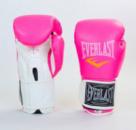 Перчатки боксерские EVERLAST GIRL PU 8,10 oz розовый-белый
